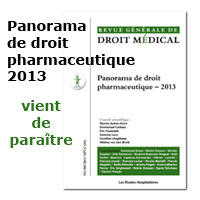 Panorama droit pharmaceutique 2013