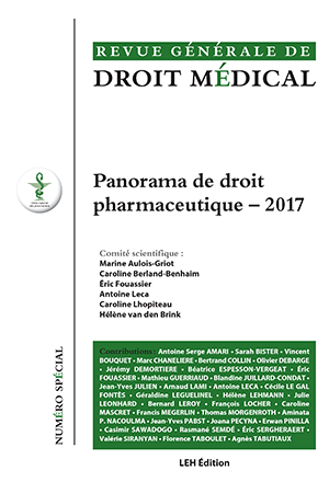 Panorama de droit pharmaceutique - 2017