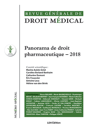 Panorama de droit pharmaceutique - 2018