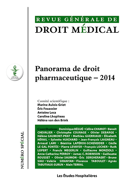 Parution du panorama de droit pharmaceutique 2014